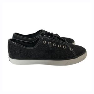 Sperry Seacoast Black Caviar Leather Sneakers